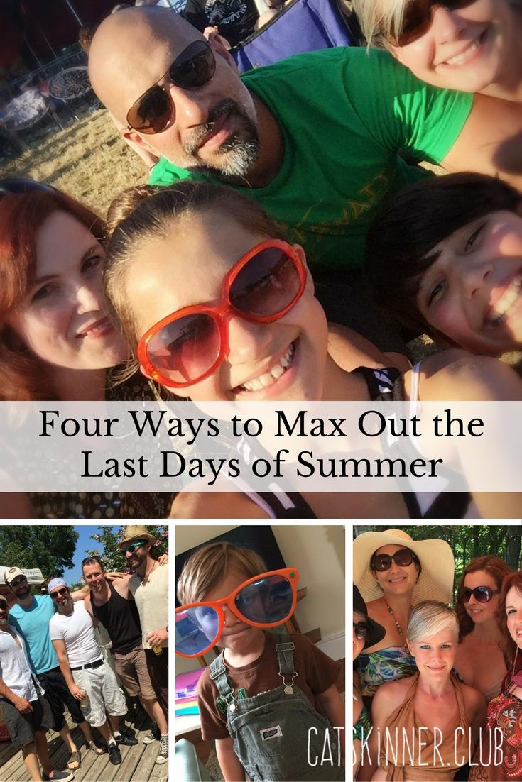 four ways to maximize the last days of summer